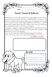 Tsouin-Tsouin le babouin – Cm1 – 1 histoire 1 problème