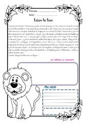 Léon le lion – Cm1 – 1 histoire 1 problème