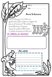 Anne la banane – CP – 1 histoire 1 problème