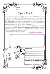 Edgar le lézard – Cm2 – 1 histoire 1 problème
