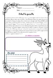 Ethel la gazelle – Cm2 – 1 histoire 1 problème