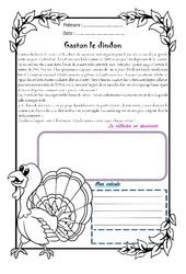 Gaston le dindon – Cm2 – 1 histoire 1 problème