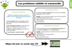 Leçon, trace écrite sur les problèmes additifs et soustractifs au Ce2