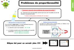 Leçon, trace écrite sur des problèmes de proportionnalité - Cm1