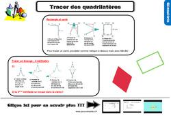 Leçon, trace écrite sur tracer des quadrilatères au Cm2