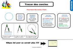 Leçon, trace écrite sur tracer des cercles au Cm1