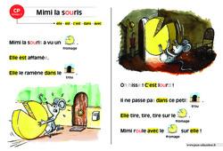 Mimi la souris – CP – Lecture compréhension – Histoire illustrée – Niveau 1