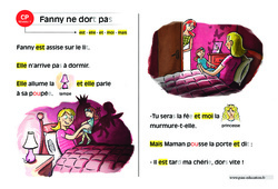 Fanny ne dort pas – CP – Lecture compréhension – Histoire illustrée - Niveau 1