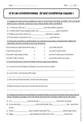 if et les conditionnelles - 5ème - Révisions
