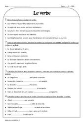Verbe – Ce2 – Exercices corrigés – Grammaire