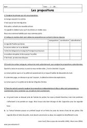 Propositions – 6ème – Exercices corrigés – Juxtaposition, coordination, subordination