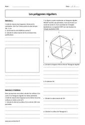 Polygones réguliers - 3ème - Révisions brevet