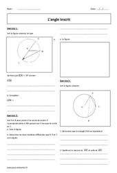 Angle inscrit – 3ème – Révisions brevet