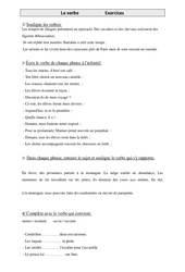 Verbe - Exercices - Grammaire - Cm1- Cycle 3