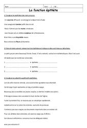 Epithète – 6ème – Exercices avec correction