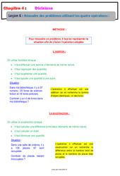 Résoudre des problèmes utilisant les quatre opérations – 6ème – Cours