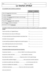 Attribut – 6ème – Exercices à imprimer