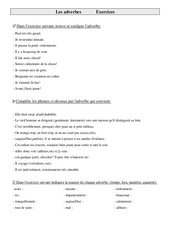 Adverbe – Exercices – Cm1 – Grammaire – Cycle 3