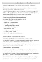Déterminants – Cm1 – Exercices