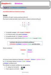La division euclidienne – 6ème – Cours – Divisions