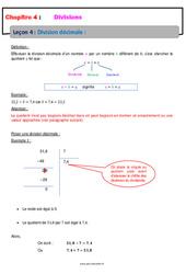 Division décimale – 6ème – Cours – Divisions