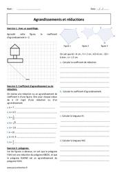 Réductions - Agrandissements  - 4ème - Exercices à imprimer