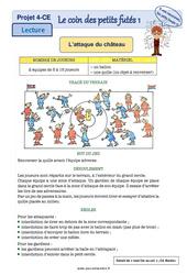 Règle du jeu – Châteaux forts – Ce1 – Ce2 – Lecture pluridisciplinaire