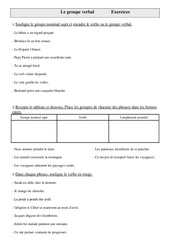 Groupe verbal -Exercices - Grammaire - Cm1- Cycle 3