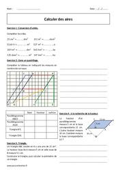 Aires – 5ème – Exercices avec correction – Calcul