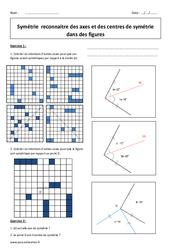 Symétrie centrale – Symétrie axiale – 5ème – Exercices corrigés