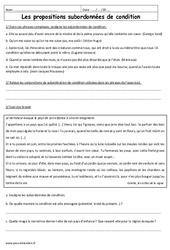 Propositions subordonnées circonstanciels de condition – 3ème – Exercices à imprimer