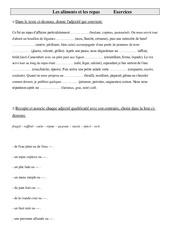 Exercices de vocabulaire cm1- cycle 3: les aliments et les repas