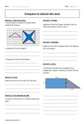Comparer et calculer des aires – 6ème – Exercices avec correction