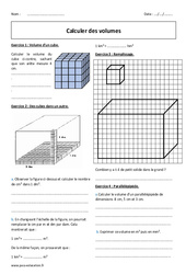 Calculer des volumes – 6ème – Exercices à imprimer