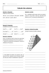 Volume – Calcul – 6ème – Exercices corrigés