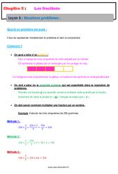 Situations problèmes - 6ème - Cours - Les fractions