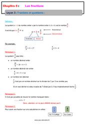 Fractions et quotients - 6ème - Cours - Les fractions