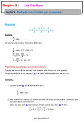 Multiplier une fraction par un nombre – 6ème – Cours – Les fractions