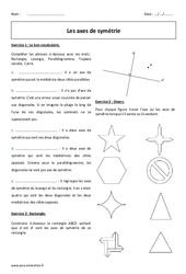 Symétrie axiale - 6ème - Exercices corrigés à imprimer
