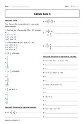 Calculs dans R – Seconde – Exercices corrigés