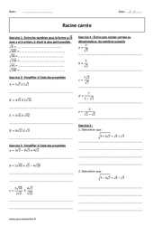 Racines carrées – 2nde – Exercices corrigés