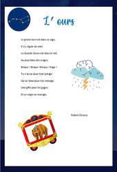 L'ours de Robert Desnos – Poésie animaux – cycle 3 : ce2 cm1 cm2