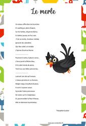 Le merle de Théophile Gautier – Poésie animaux – cycle 3 : ce2 cm1 cm2