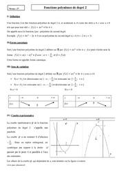 Fonctions polynômes de degré 2 - Seconde - Cours