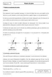 Repère du plan - Seconde - Cours de géométrie
