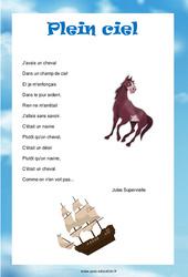 Plein ciel de Jules Supervielle – Poésie animaux – cycle 3 : ce2 cm1 cm2