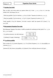 Equation d'une droite – Seconde – Cours
