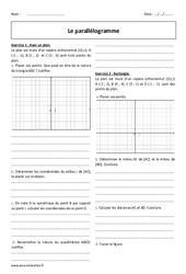 Parallélogramme – 2de – Exercices à imprimer