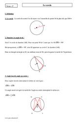Cercle – Seconde – Cours