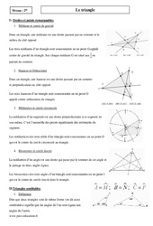 Triangle - Seconde - Cours